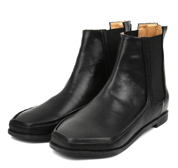 hexagon chelsea boots