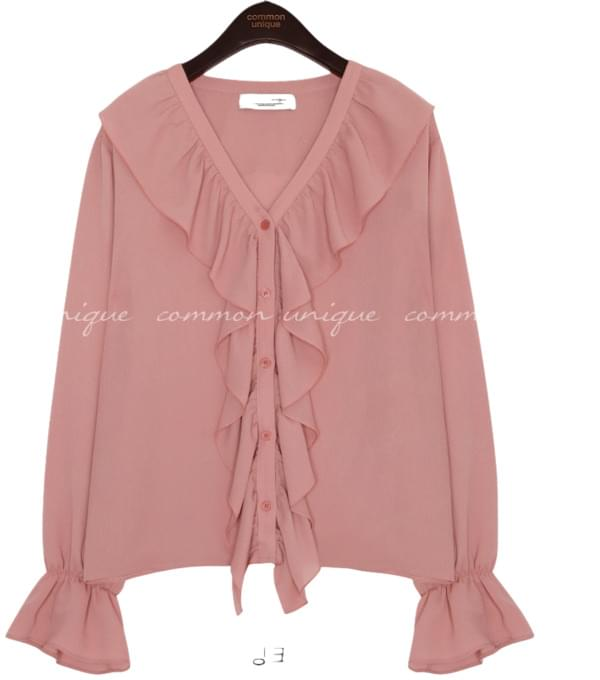 JANE WRINKLE FRILL BLOUSE