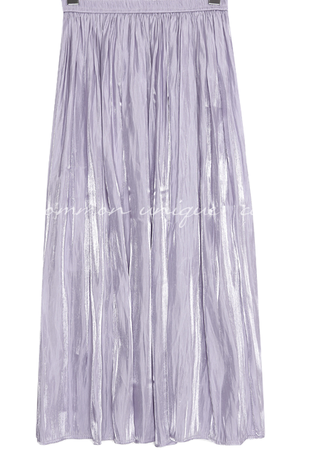 LOWELL GLOSS SATIN LONG SKIRT
