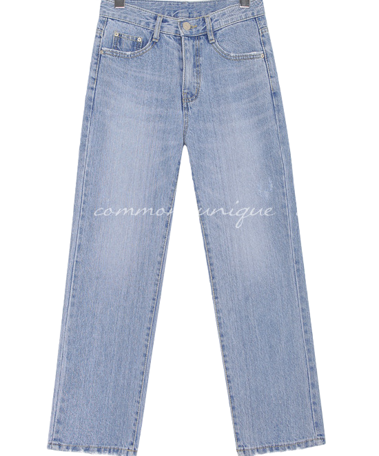 FORM STRAIGHT WIDE DENIM PANTS