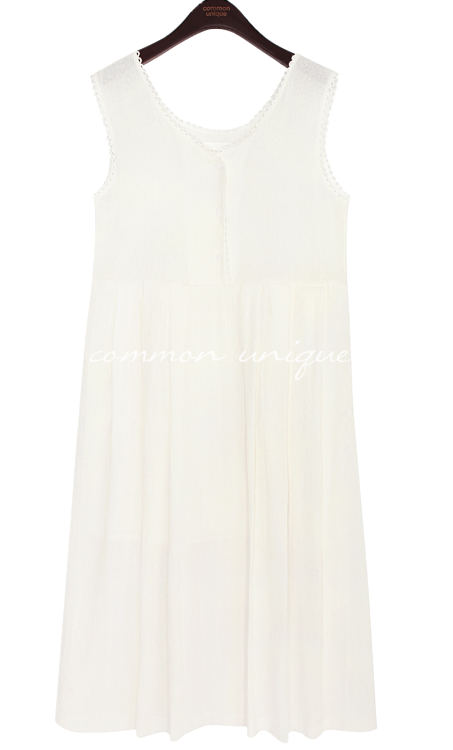 AVELEY LACE WRINKLE SLEEVELESS OPS
