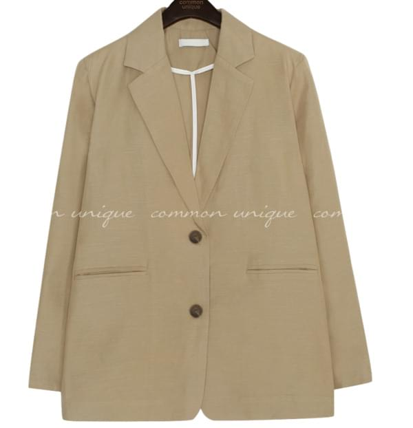 MIZE LINEN SINGLE JACKET