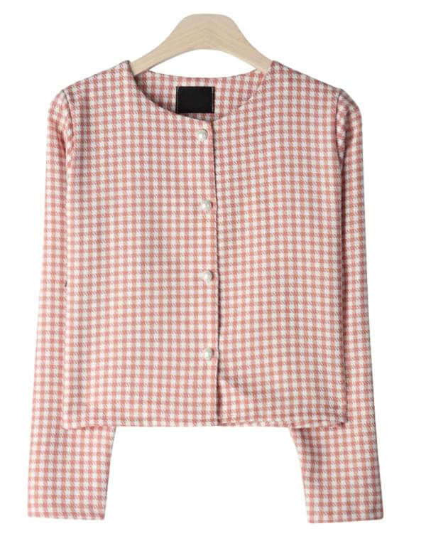 Lovely Pearl Check Jacket