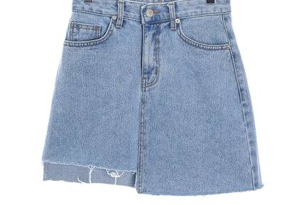 Denim skirt unbuttoned