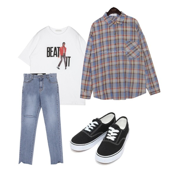 AIN daily casual sneakers (230-250),openthedoor BEAT IT 1/2 T (2 color) - woman,AWAB 파인컷팅일자팬츠등을 매치한 코디