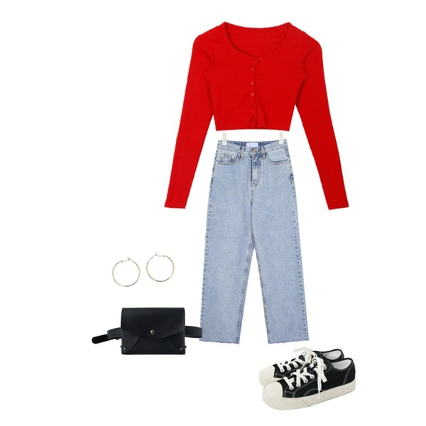 daily monday Simple every day sneakers,AIN alley lightblue denim pants (s, m),MIXXMIX 도레미 크롭탑등을 매치한 코디