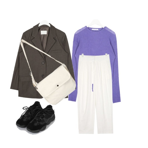 somedayif noblesse sneakers (2colors),AIN minute see through knit,AIN warm fit daily jacket등을 매치한 코디