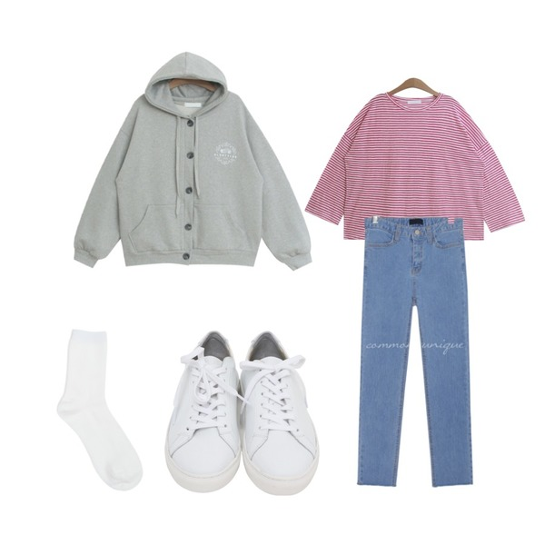 From Beginning Win real cowskin sneakers_H (size : 225,230,235,240,245,250),common unique [BOTTOM] VIDE STRAIGHT DENIM PANTS,TODAY ME 키엘 단가라 티등을 매치한 코디