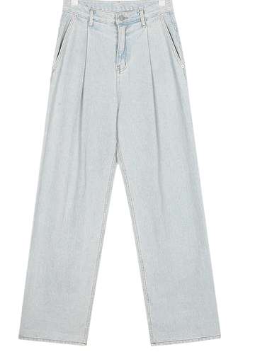 ball roll-up denim pants (s, m)