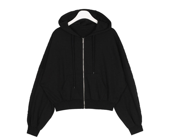 bettie crop hood zip-up