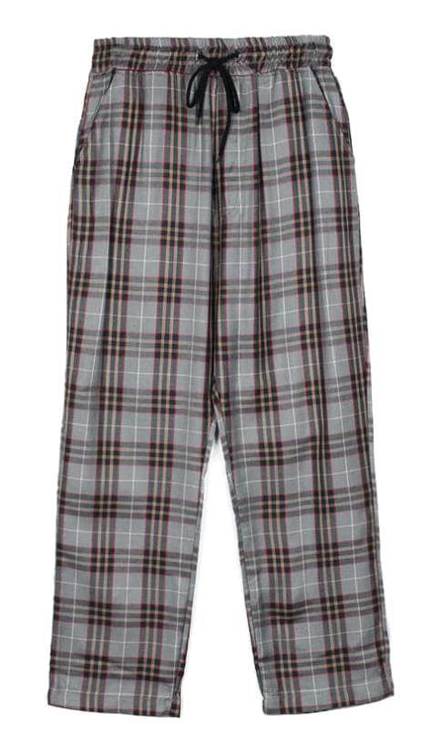 standard check banding pants - men