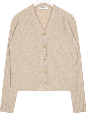 FRESH A button wool cardigan