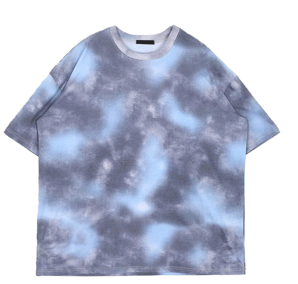 tie-dye over 1/2 T - men