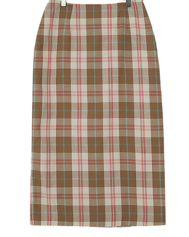Candy pink check skirt