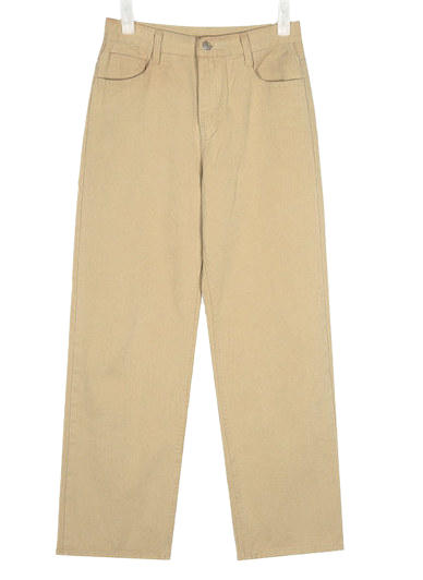 below straight cotton pants