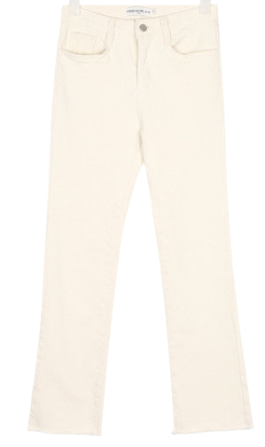 SHALOM basic straight cotton pants