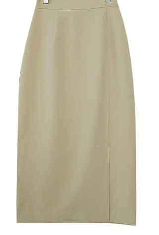 Long slit long skirt