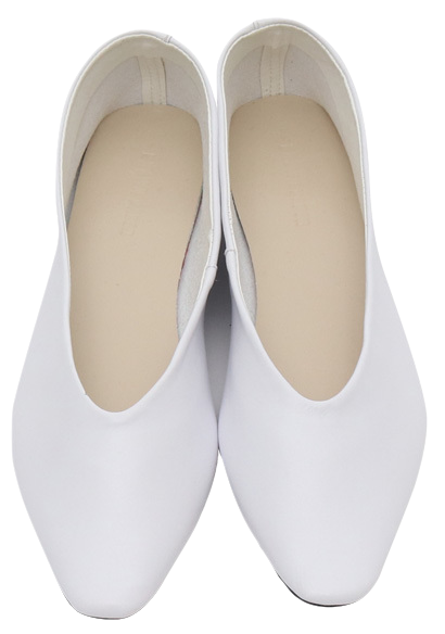 Milky simple flat shoes_J