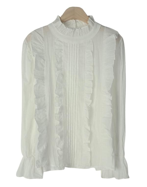 Aid frilly blouse