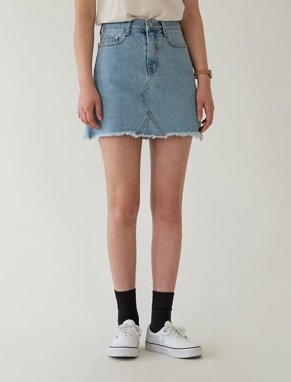 semi a-line denim mini skirt