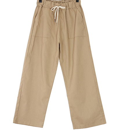 Three-dunk cotton pants