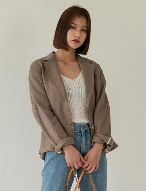 Nagran sleeve loose-fit linen jacket jacket