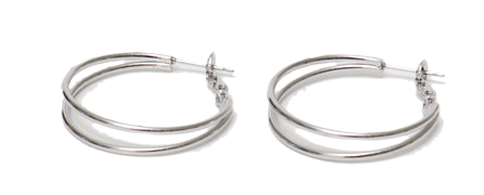 Twin circle earring_Y (size : one)