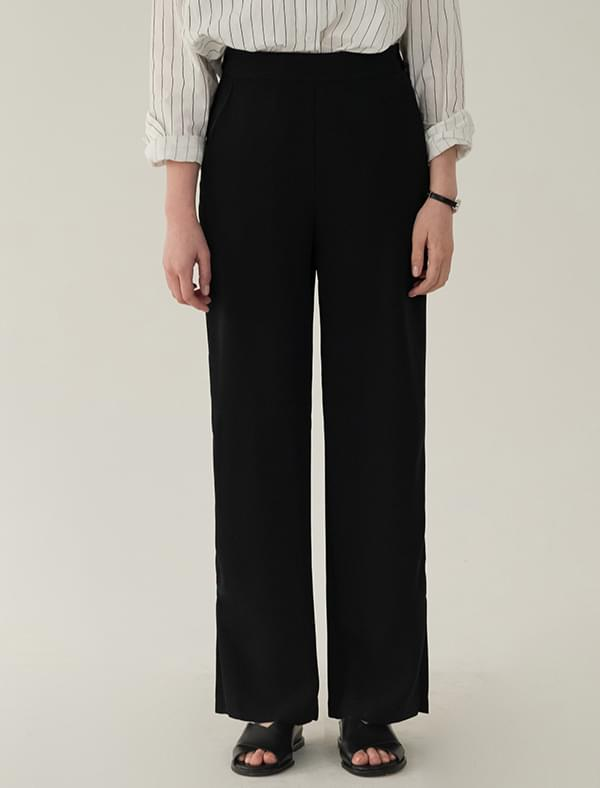 banding slit detail slacks