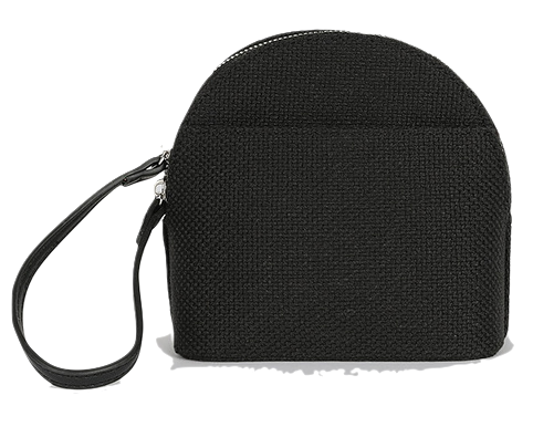 Cotton two-way cross pouch bag