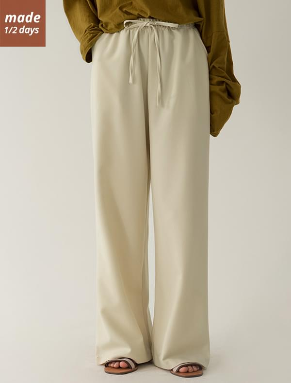 Daily wide banding pants pants