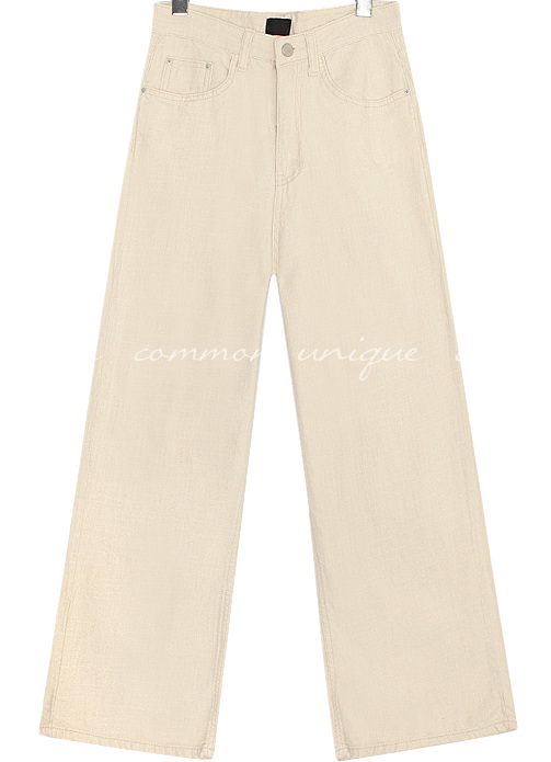 BASIL STRAIGHT WIDE PANTS