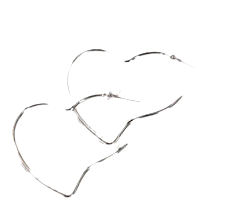 King Heart Earrings