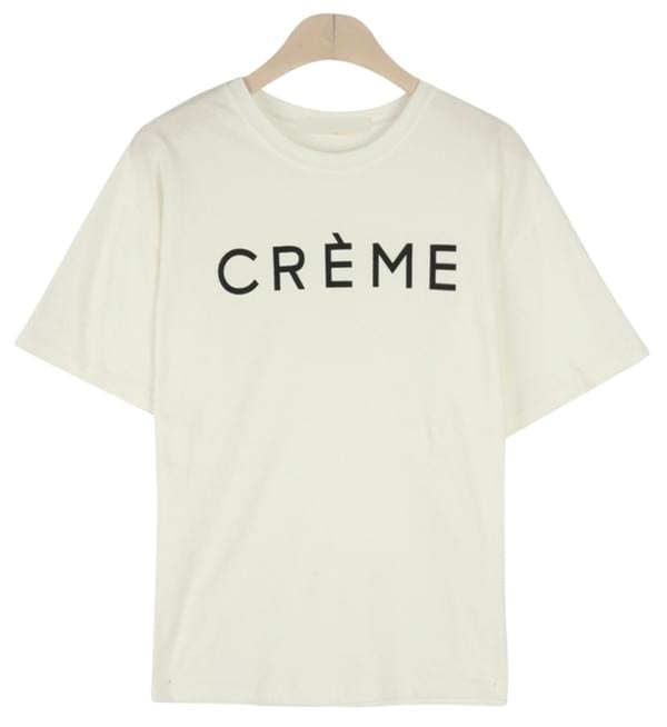 Cream Round Polo Shirt