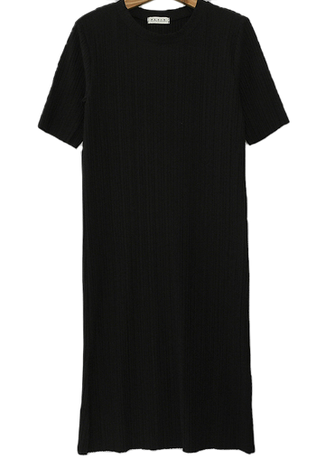 PBP. Vertical Embossed Black Dress