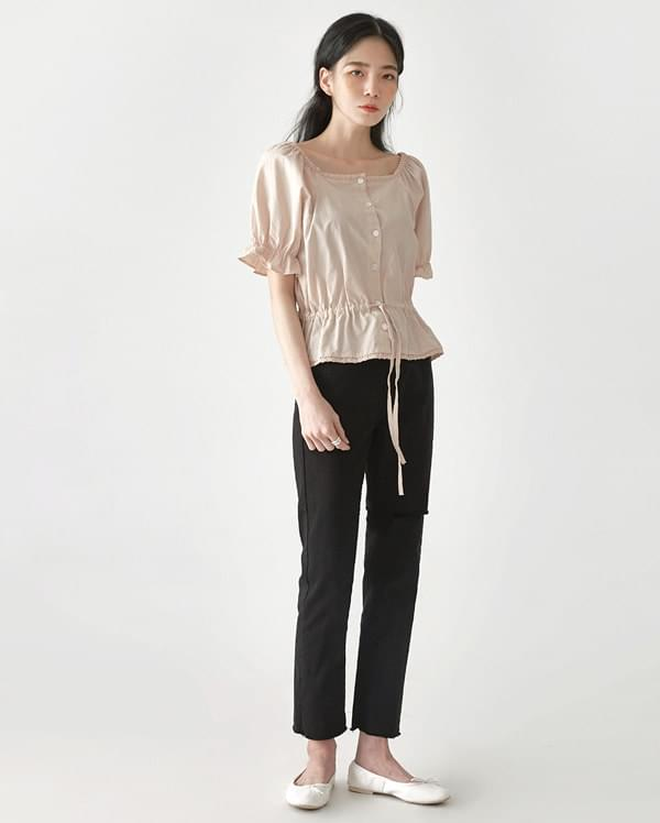 may lovely string blouse (인기상품 배송지연)