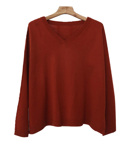 Wide V-neck Refit Knit