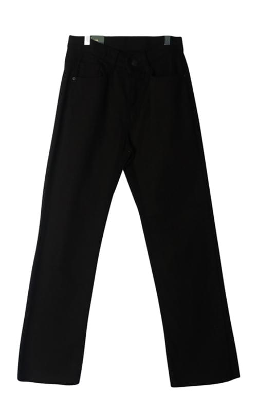 Cotton semi high-end pants