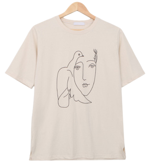 Emotional drawing short sleeve T