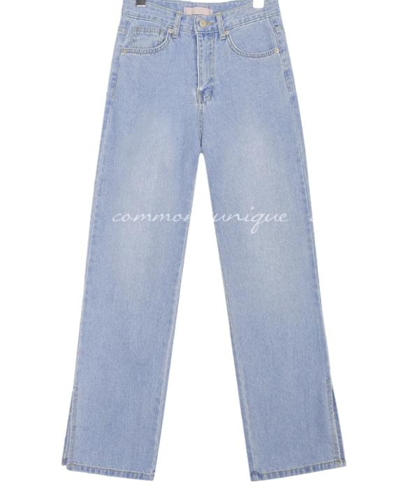 FIRST SLIT STRAIGHT DENIM PANTS