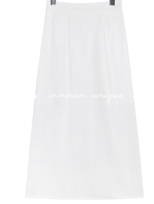 CANBE LINEN BACK SLIT LONG SKIRT