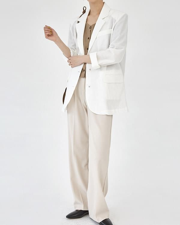 thin linen simple jacket 夾克外套