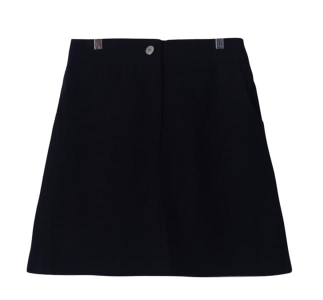 Daily pocket button skirt