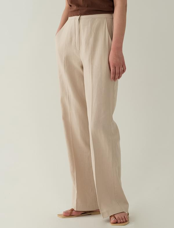 Linen herring band banding slacks pants