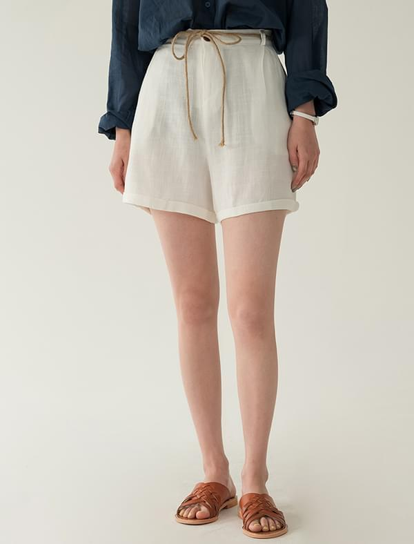 Modern Cool Shine Linen Short Pants Short Pants