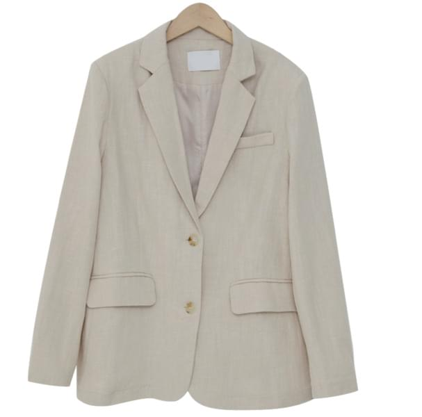 Standard light linen jacket_Y (size : free)