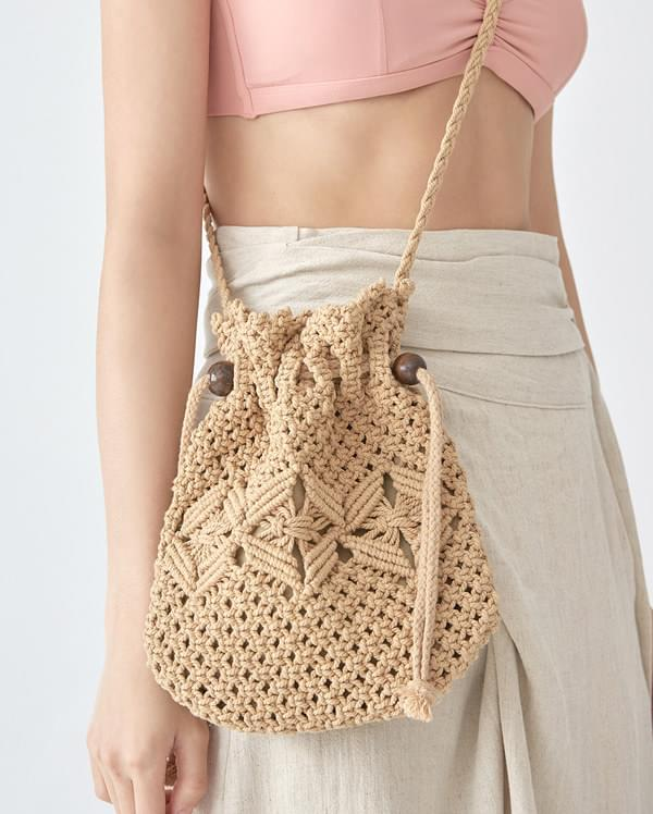 mini knit bucket bag