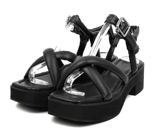cross strap sandals (2 color)