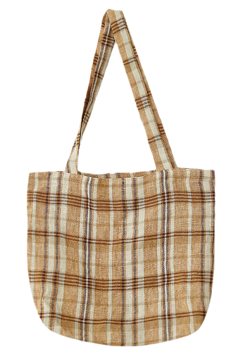 Shoulder linen check bag