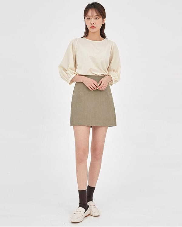 blossom linen mini skirts 裙子