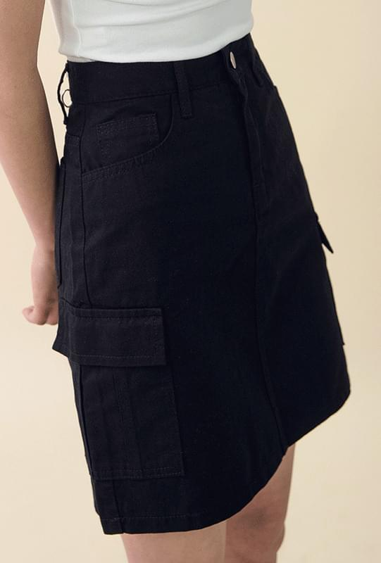A line pocket skirt